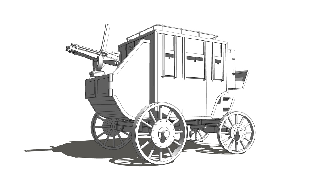 3:10 to Yuma: Armored stagecoach model