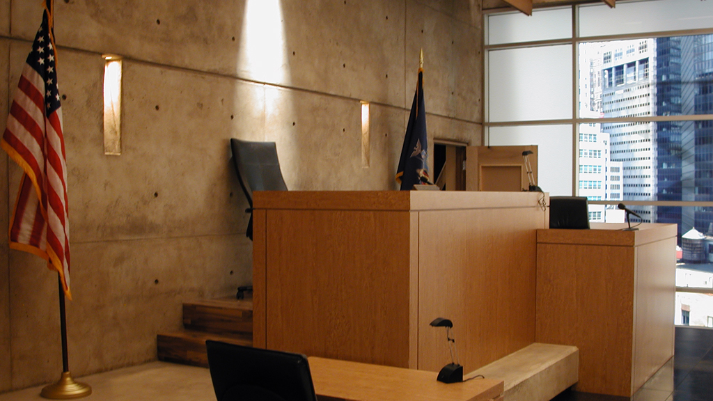 Reign Over Me: Courtroom benches