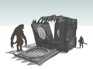 EVOLVE monster cage